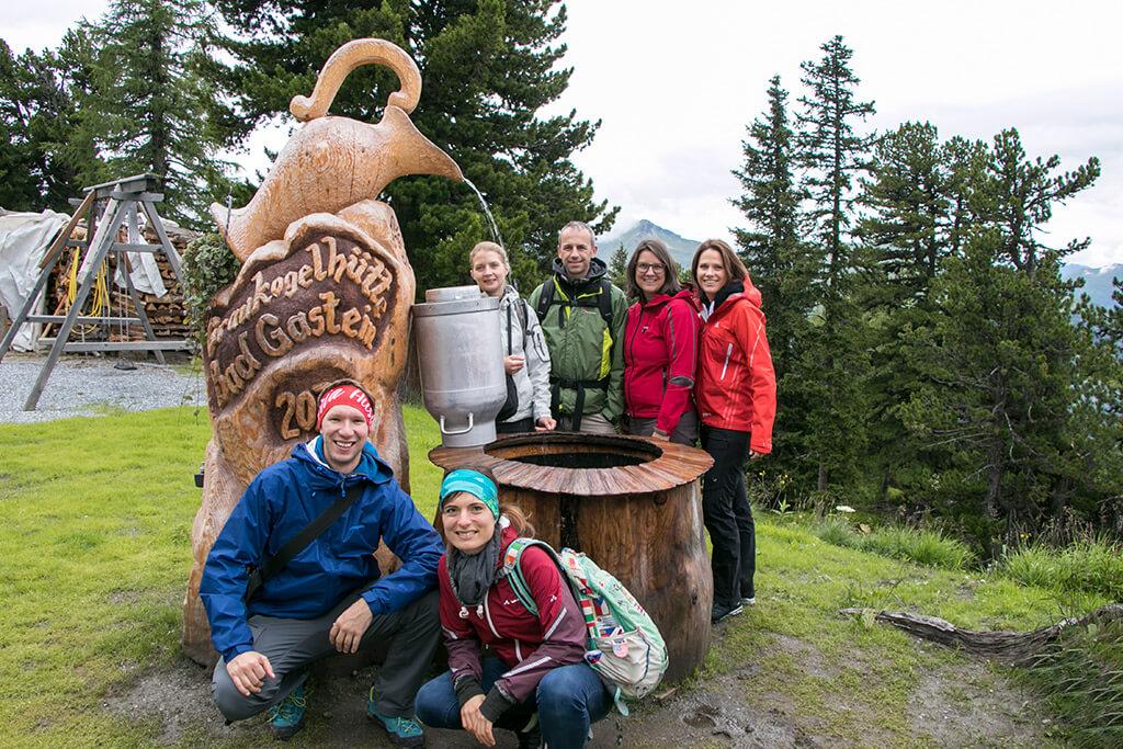 Gruppenfoto Wanderung am Zirbenweg über Bad Gastein