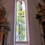 Kunstvolle Kirchenfenster in Graz St. Andrä