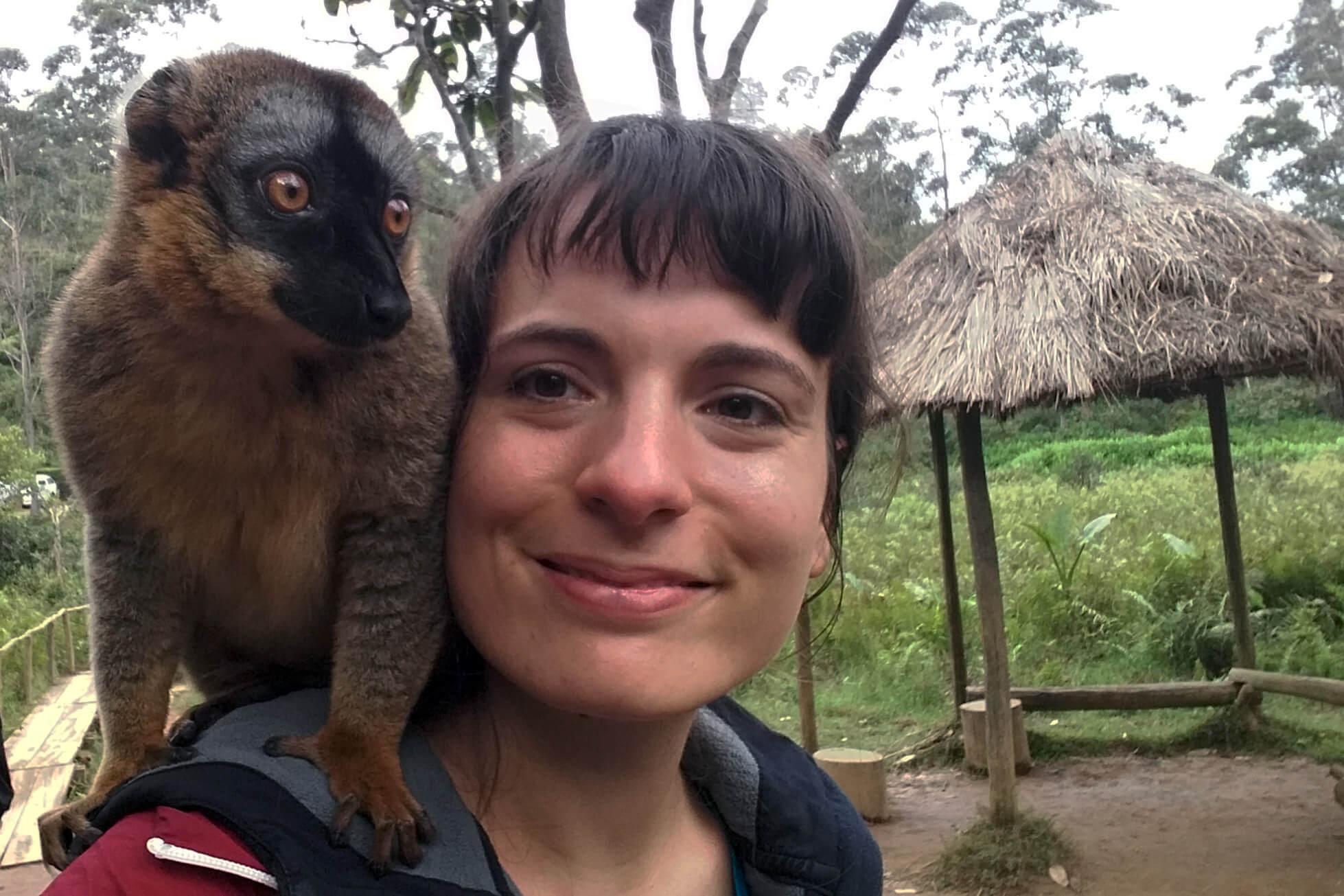 Lemuren kuscheln hautnah Andasibe Hotel Vakona
