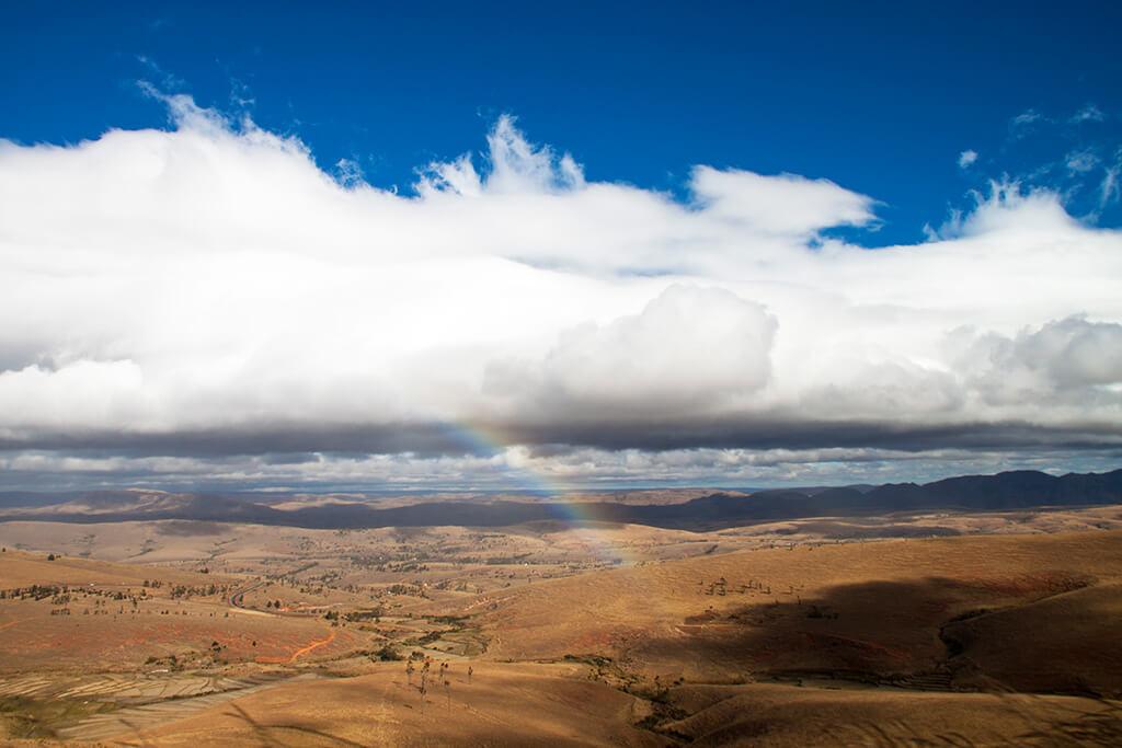 Hochland Madagaskar Landschaft