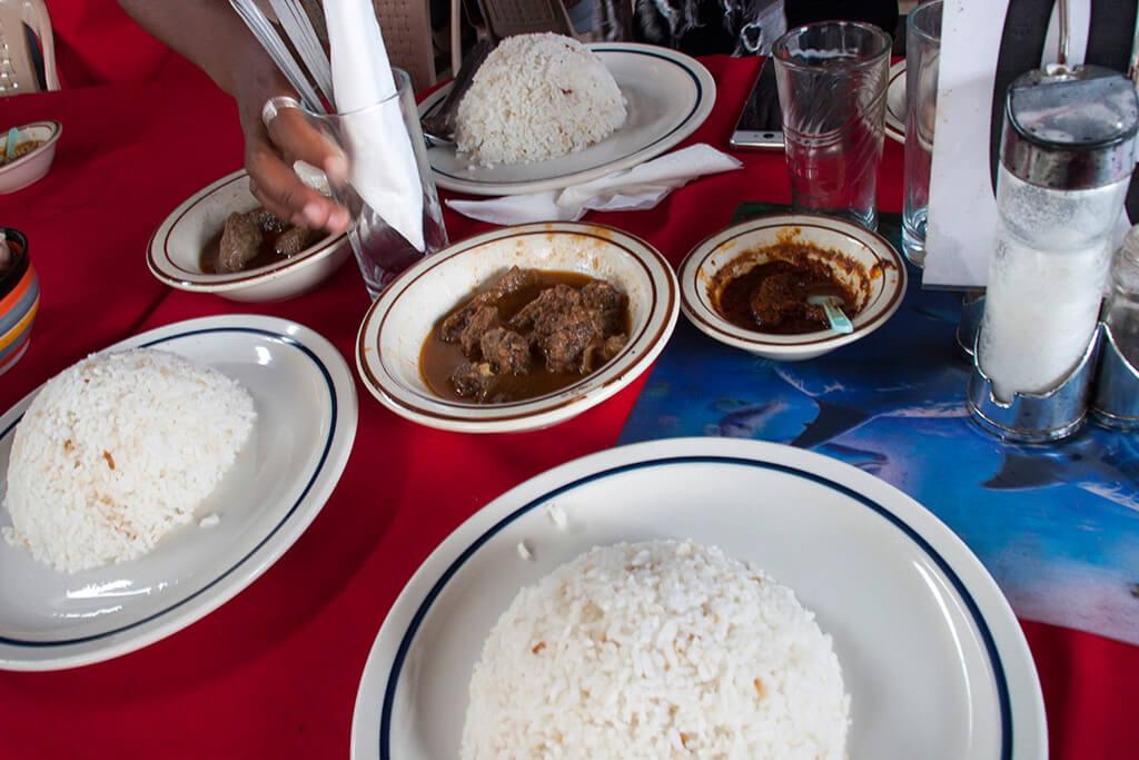Madagaskar Essen Zebufleisch