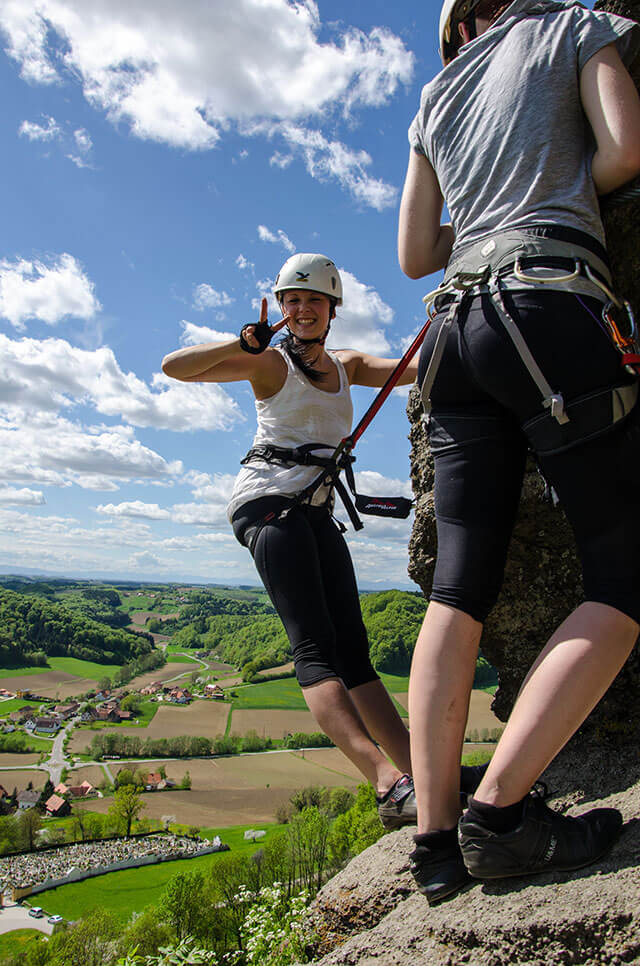 Naturbursch Training Kurs am Leopold-Klettersteig