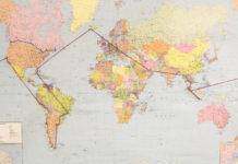 Travel Pins Weltkarte