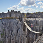 Hängebrücke im Tsingy de Bemaraha Nationalpark