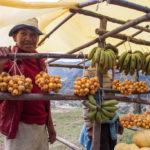Straßenverkäufer Madagaskar Früchte