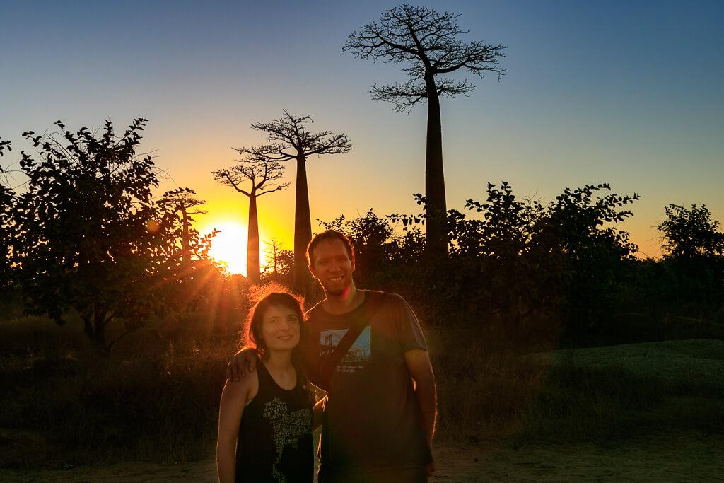 Baobaballee im Sonnenuntergang