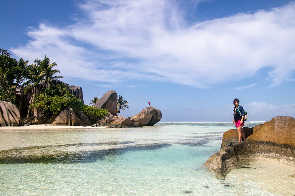Unser schönster Reisemoment 2017 auf La Digue am Anse Source d'Argent