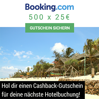 Booking.com Cashback-Gutschein für Travel Pins Blog-Leser