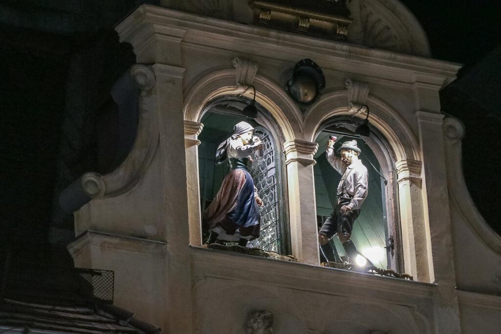 Grazer Glockenspiel bei Nacht