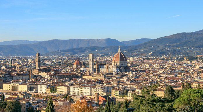 Florenz mit Dom von oben