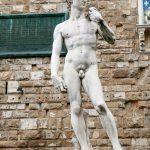 David Statue von Michelangelo vor dem Palazzo Vecchio