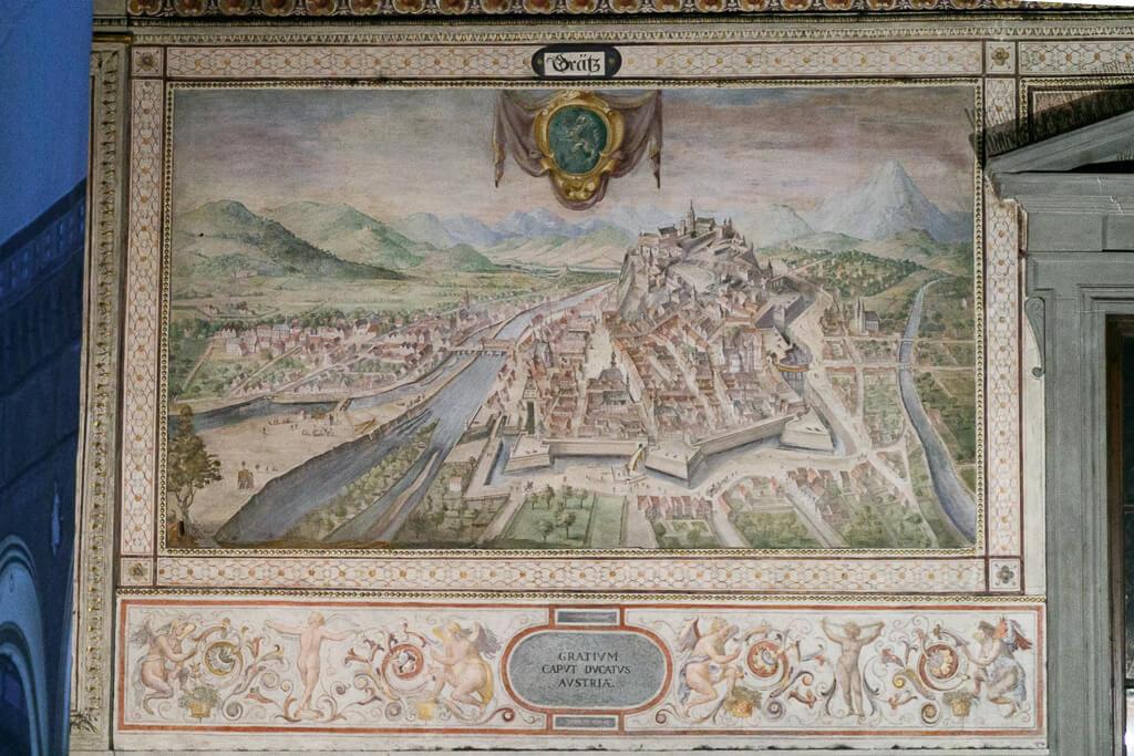 Darstellung der Stadt Graz im Palazzo Vecchio