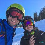 Skifahren Eva und Flo