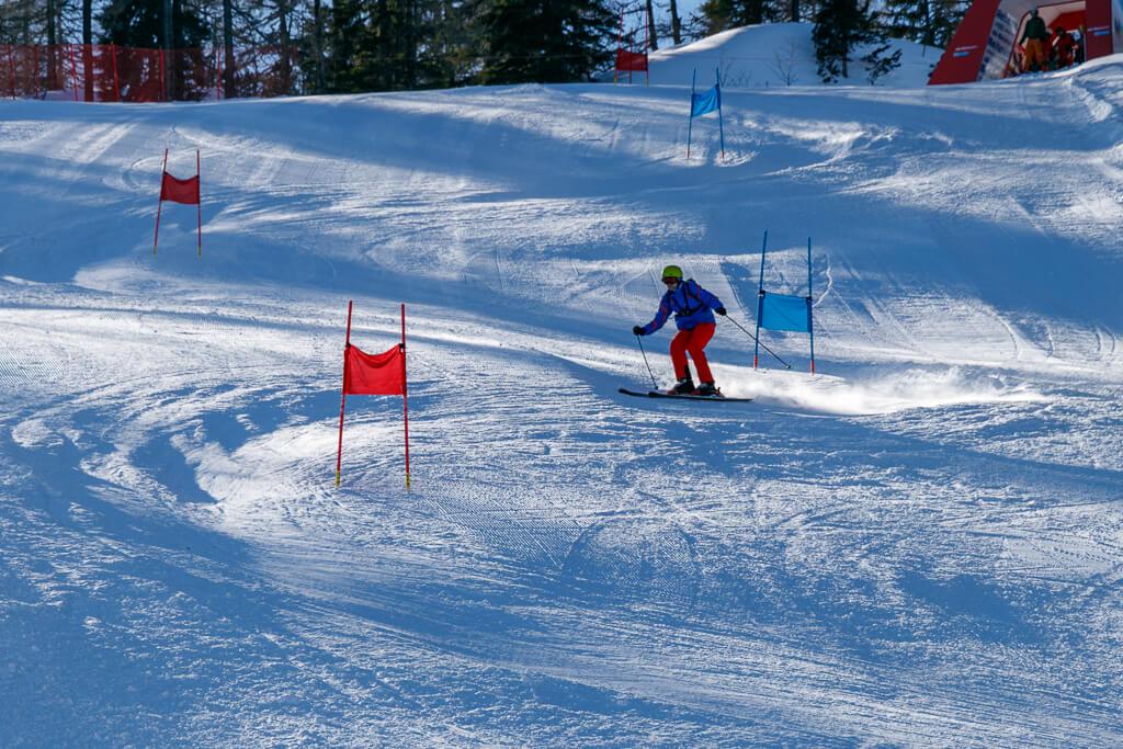 Skirennen trainieren