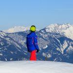 Skifahren in den Bergen Österreichs