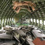 First Class im Flugzeugwrack am Airplane Graveyard in Bangkok