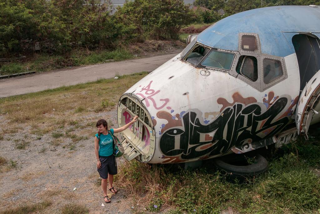 Airplane Graveyard Flugzeugwrack in Bangkok