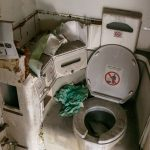 Toilette im Flugzeugwrack