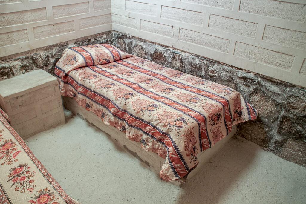 Salzhotel Bett Bolivien