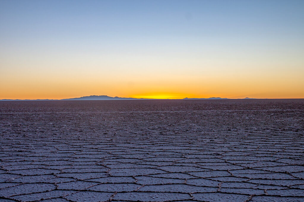 Sonnenaufgang Salar de Uyuni
