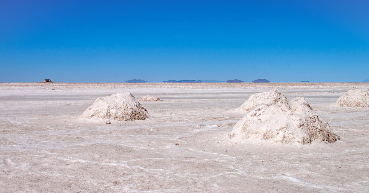 Salar de Uyuni Salzhaufen