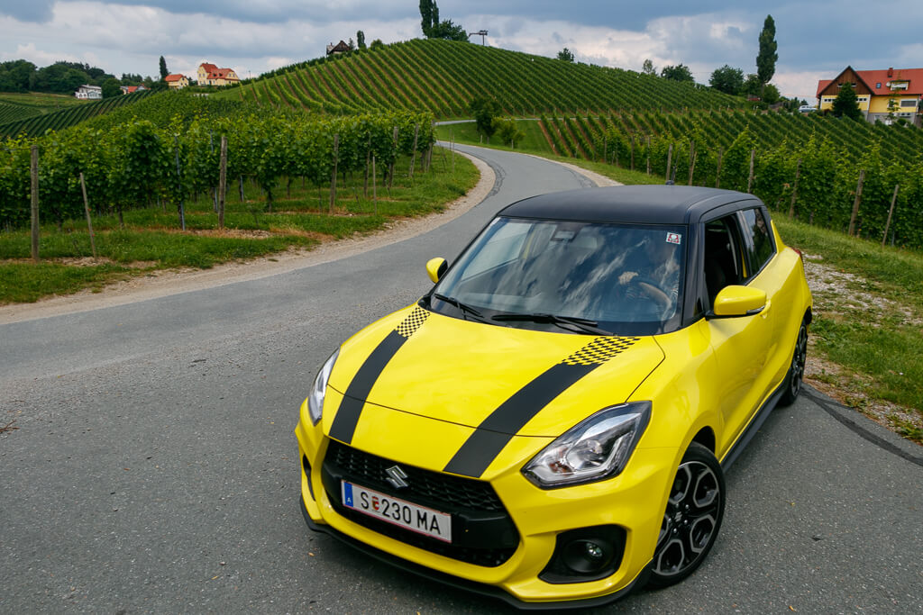 Grenz-genialer Roadtrip mit dem Suzuki Swift Sport