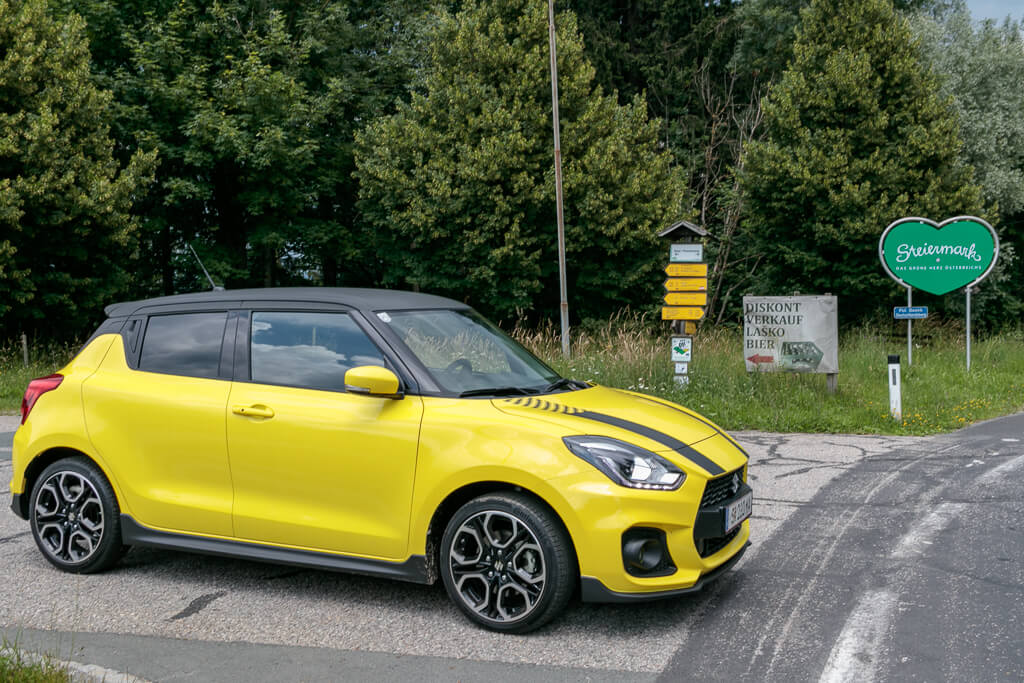 Steiermark Roadtrip mit Suzuki Swift Sport