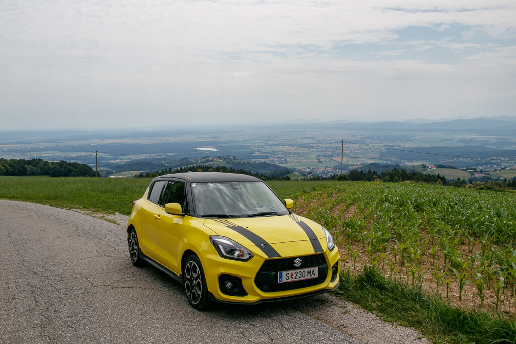 Unterwegs im Pohorje-Gebirge mit dem Suzuki Swift Sport