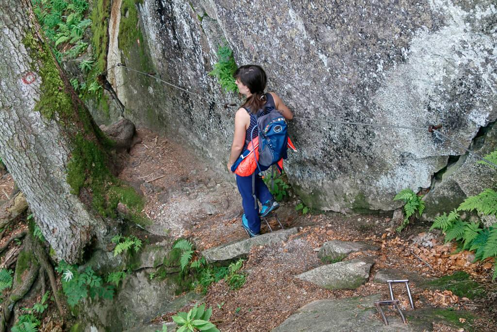 Steig im Pohorje-Gebirge am Weg zum Wasserfall Veliki Sumik