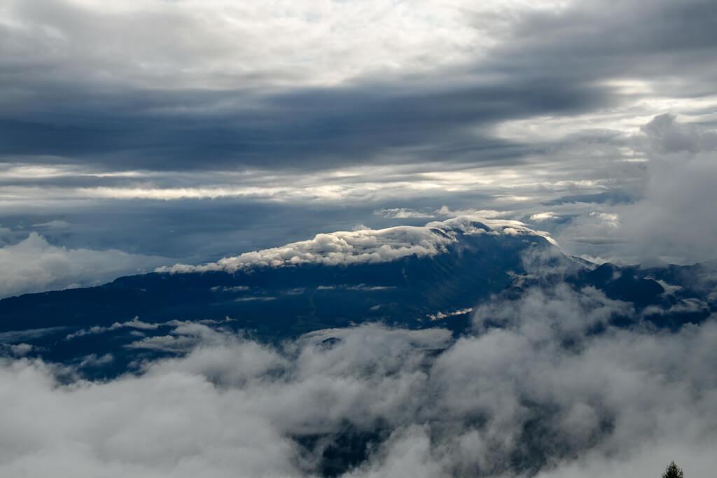 Dichte Wolken über der Gerlitzen und Mittelkärnten