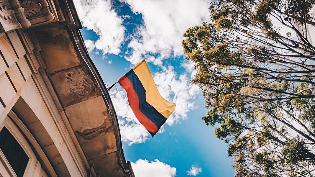 Spanisch lernen in Kolumbien - Landesflagge