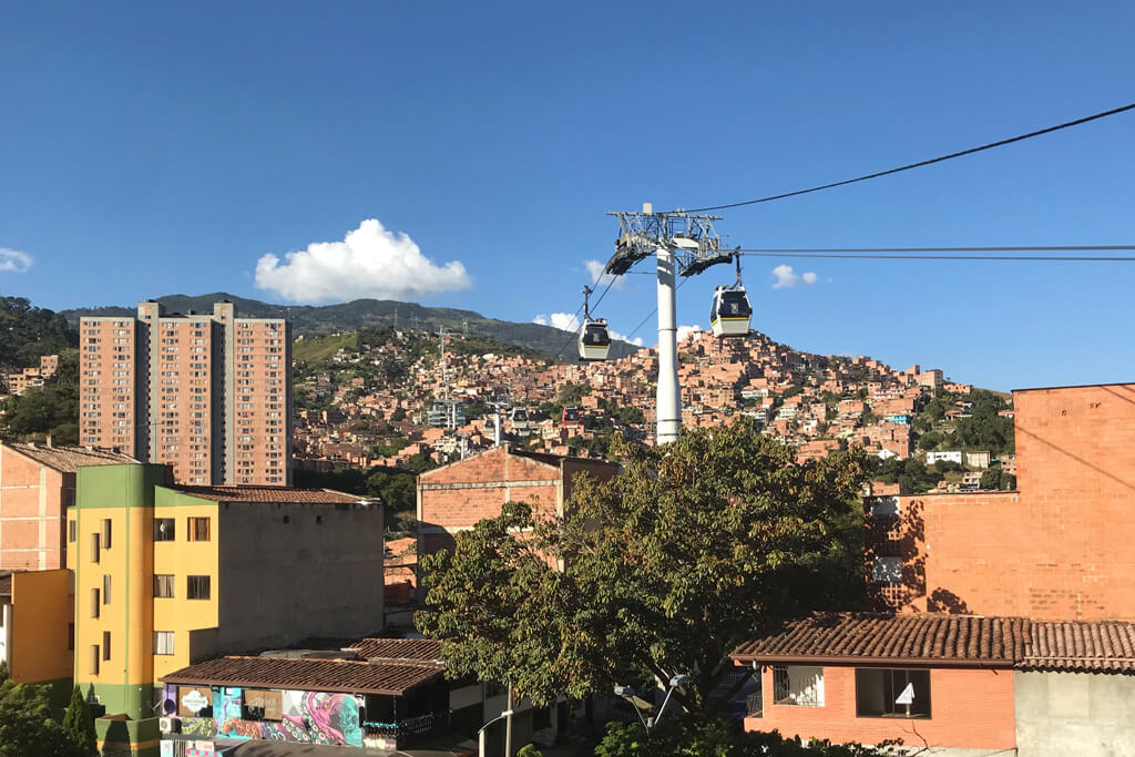 Seilbahn in Kolumbien