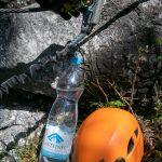 Handschuhe, Helm und Gasteiner Mineralwasser haben wir natürlich auch dabei