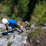 Brustwand Klettersteig mit Gerhard und Cori