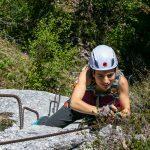 Brustwand Klettersteig mit Cori