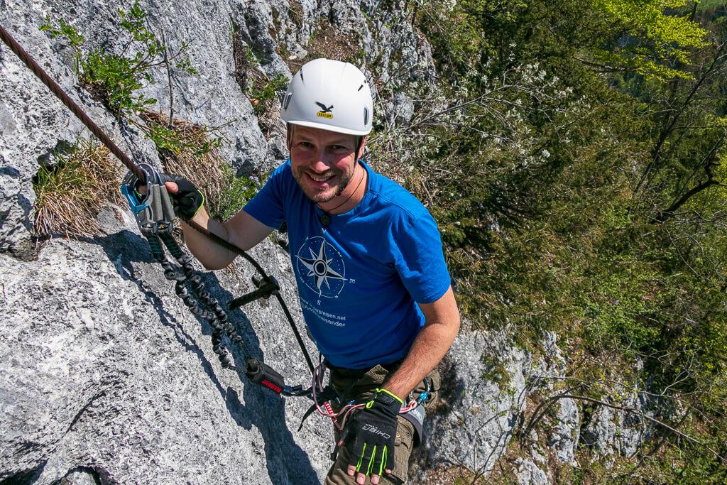 Gerhard von Andersreisen am Brustwand Klettersteig