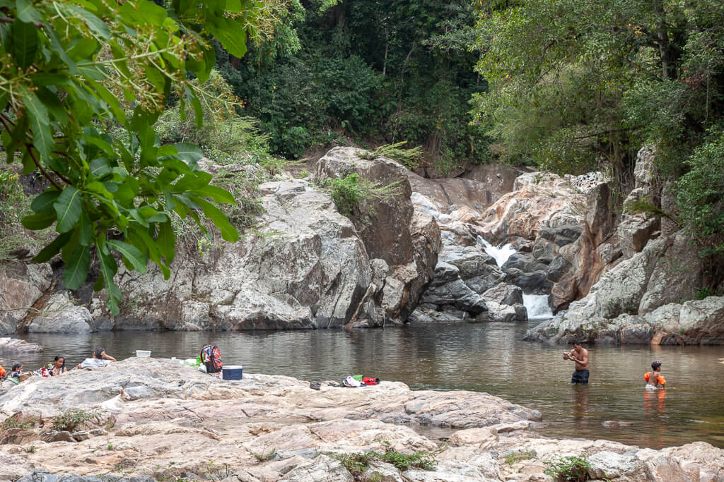 Wasserfall am Río Mendihuaca