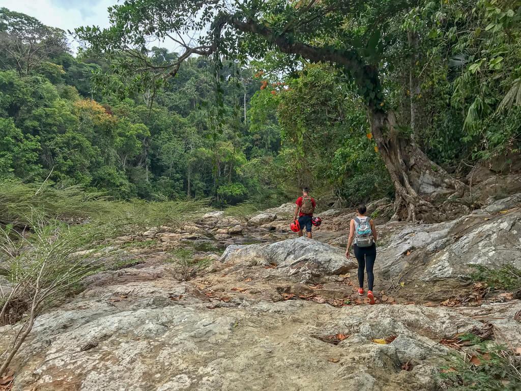 Ausgetrocknetes Flussbett des Río Mendihuaca
