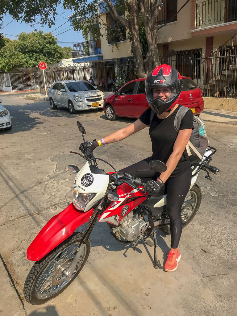 Motorradtour Kolumbien Karibikstrand