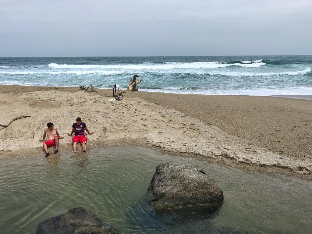Río Piedras kurz vor der Mündung ins Meer