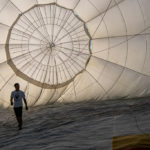 Heißluftballon aufstellen