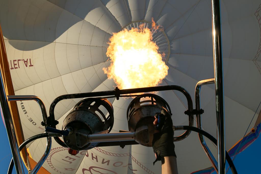 Heißluftballon Brenner