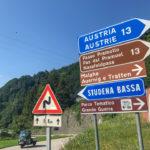 Pontebba Passo Pramollo mit dem Motorrad