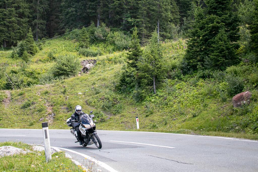 Mit dem Motorrad auf den Nassfeldpass in Kärnten