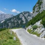 Mangartstraße mit dem Motorrad
