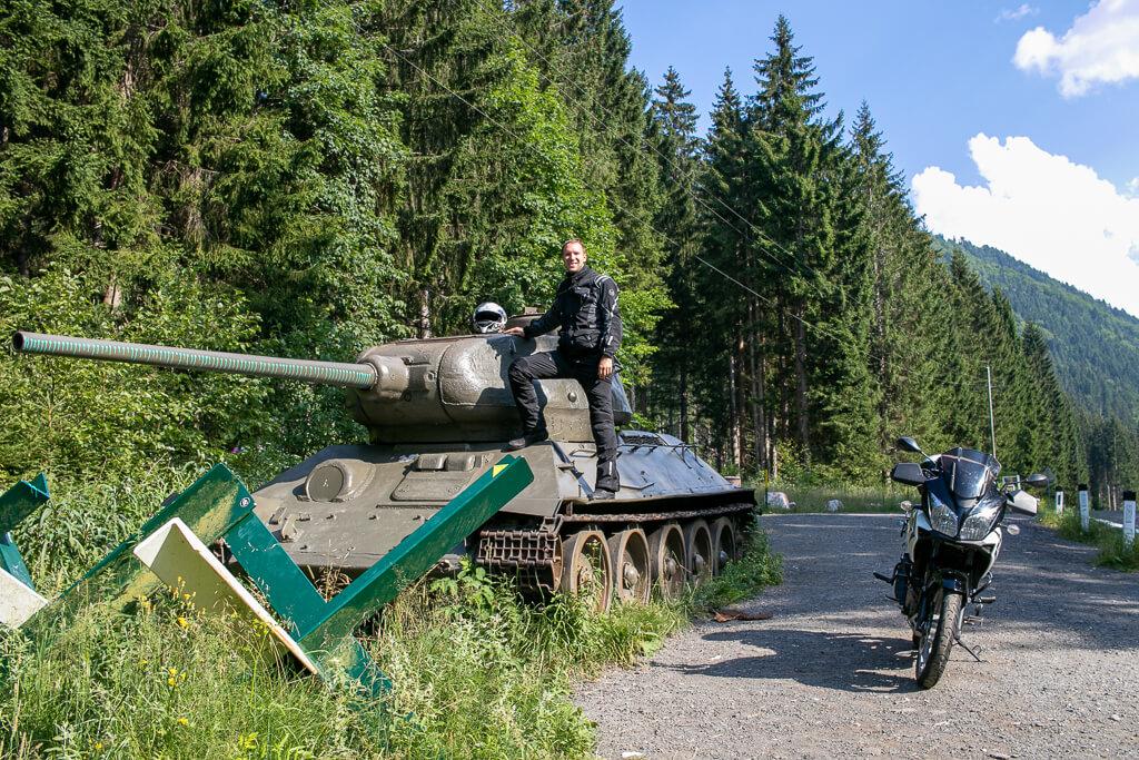Panzer am Wurzenpass
