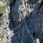 40 Meter lange Nepalbrücke am Däumling-Klettersteig