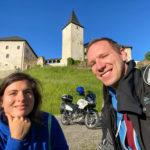 Mit dem Motorrad zu Schloss Straßburg