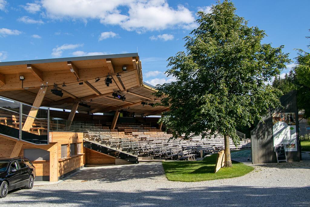 Huabn-Theater Zuschauertribüne