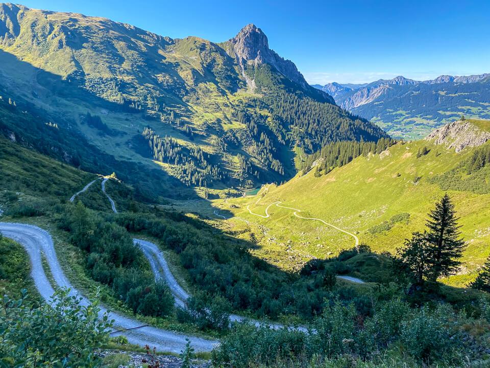 Downhill-Mountainbiken im Montafon